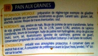 Pain aux graines Allergo sans gluten - Ingrédients - fr