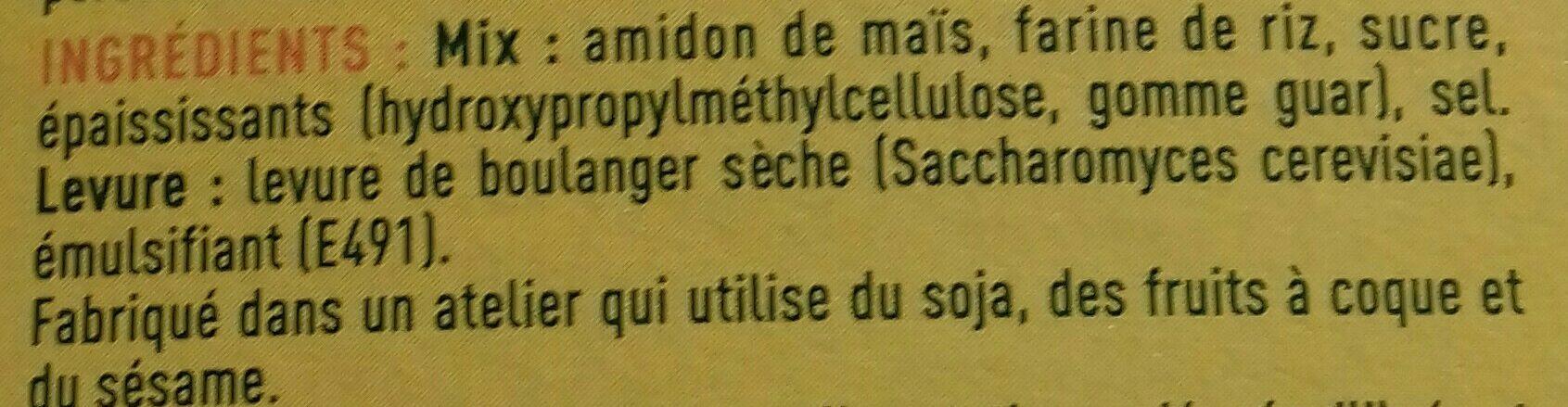 Mix Brioche - Ingrédients - fr
