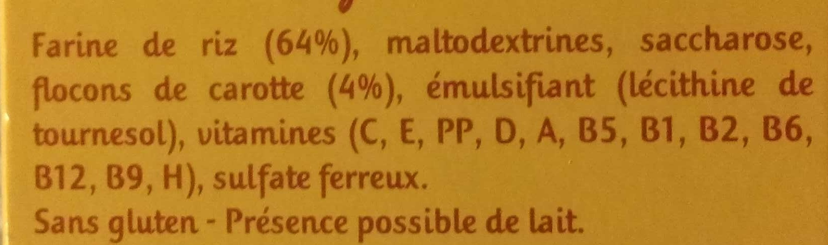 Mes 1ères Céréales Carottes - Ingredienti - fr
