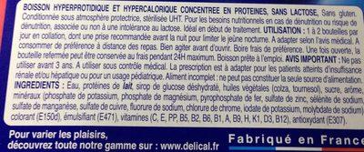 Delical Concentre Boisson HP HC Sans Lactose Cafe Pack De 4 Bouteilles De - Ingredients - fr