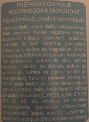 1 dès la naissance - Ingredients
