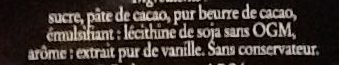 Chocolat Eclats de Noisettes - Ingrédients - fr
