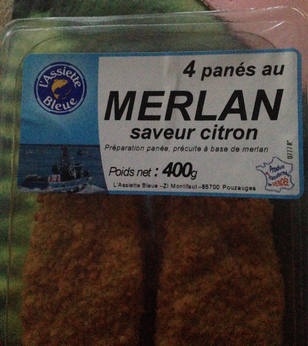 Panés au merlan saveur citron - Product - fr