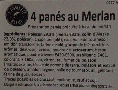 Panés au merlan saveur citron - Ingrediënten - fr
