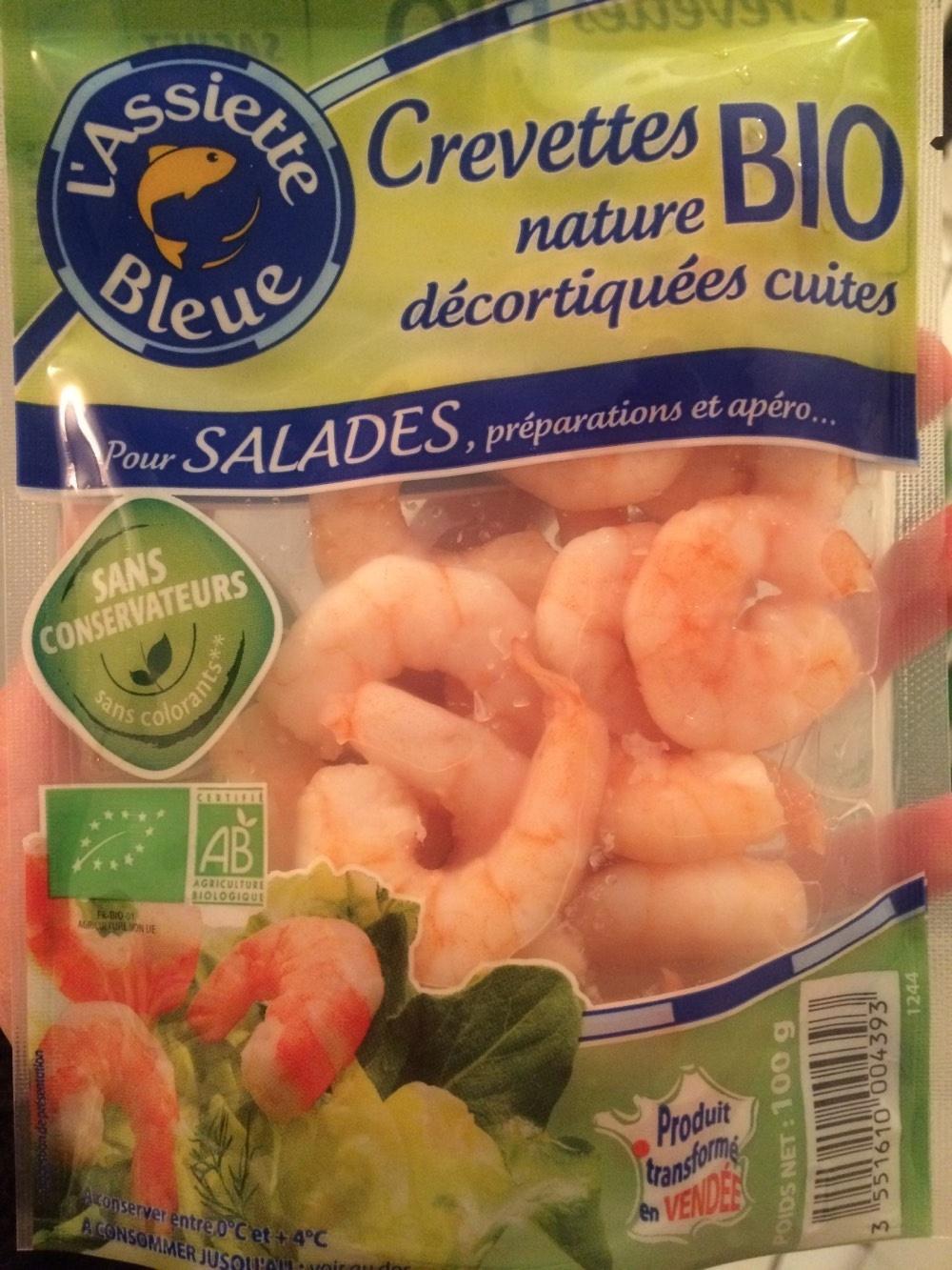 Crevettes nature BIO décortiquées cuites - Product