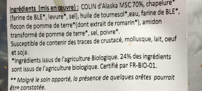 Nuggets de colin d'alaska panure bio - Ingredients