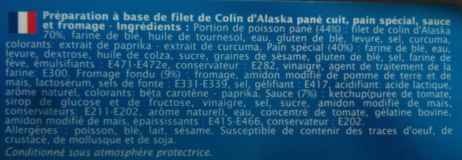Burger de la mer - Colin d'alaska - Ingrédients