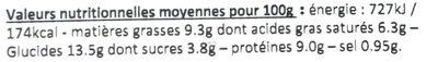 Noix de St Jacques façon Bretonne - Nutrition facts - fr