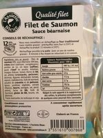 Filet de saumon sauce béarnaise pané ASSIETTE BLEUE - Ingrédients