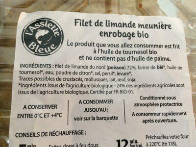 Filet de Limande - Ingrediënten - fr
