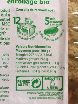 Plie Meuniere - Voedingswaarden - fr