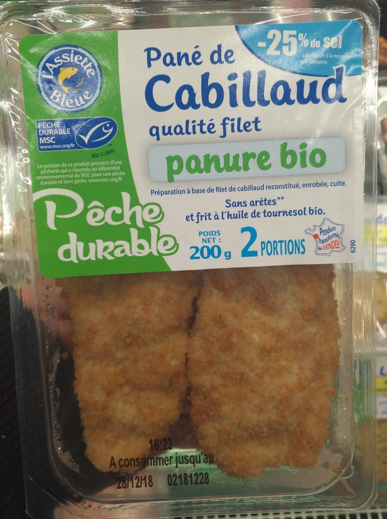 Pané de cabillaud qualité filet panure bio - Produit