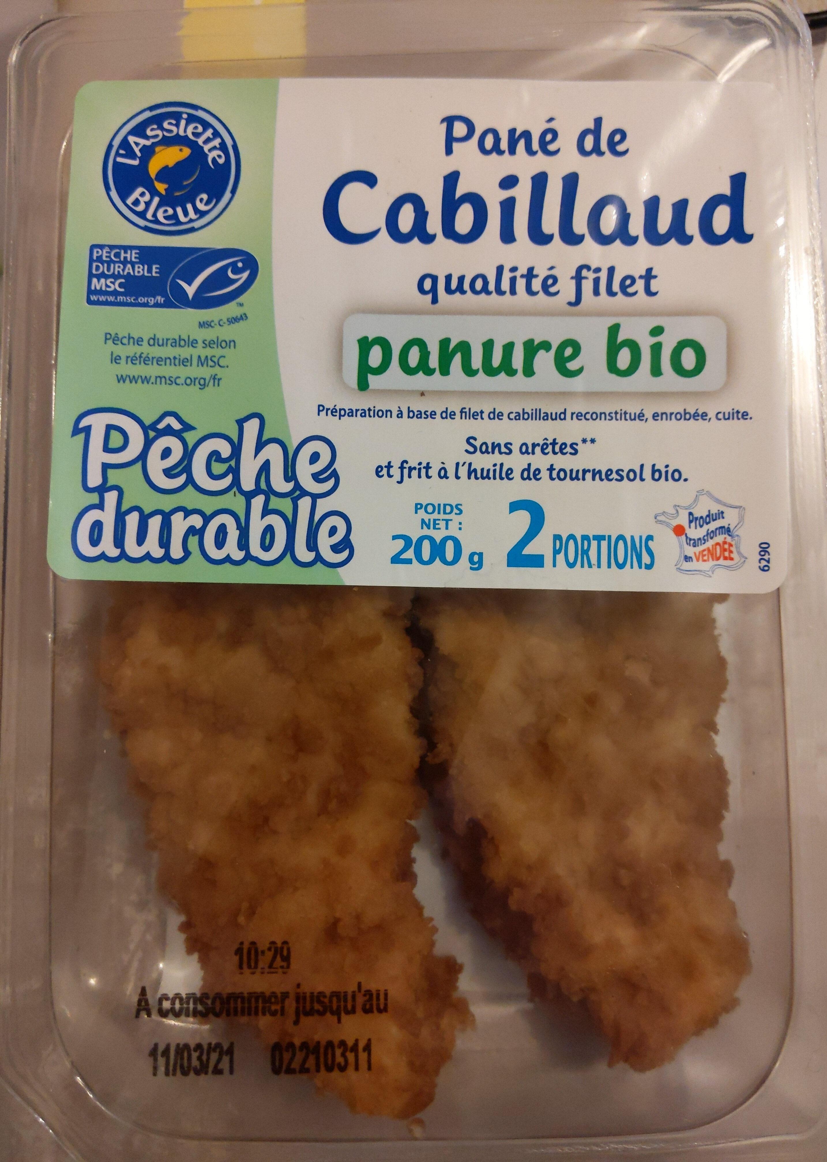 Pané de cabillaud qualité filet panure bio - Product - fr