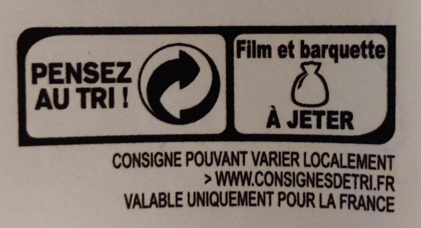Pané de cabillaud qualité filet panure bio - Recyclinginstructies en / of verpakkingsinformatie - fr