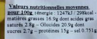 Nuggets de saumon - Voedingswaarden - fr