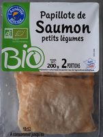 Papillote de saumon et petits légumes - Product - fr