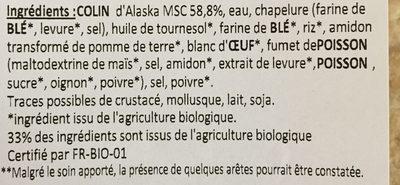 Panés de colin d'alaska - Ingredients - fr