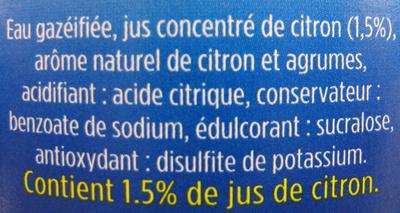 Limonade Zero - Ingrediënten
