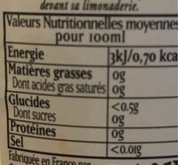 Lorina limonade artisanale sans sucres ,1.25 L - Voedingswaarden - fr