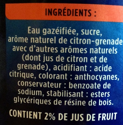 La Grenade - Ingredients