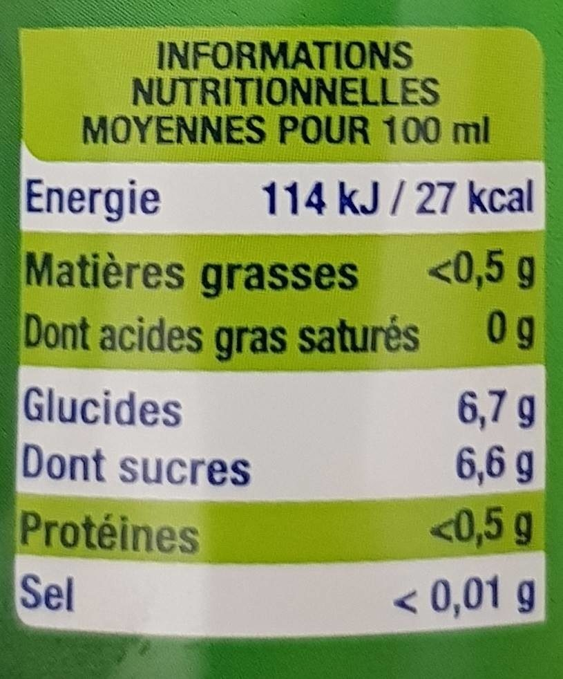 Lorina mojito - Informations nutritionnelles - fr
