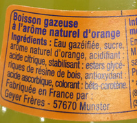 Orange Soda Artisanal - Ingredients