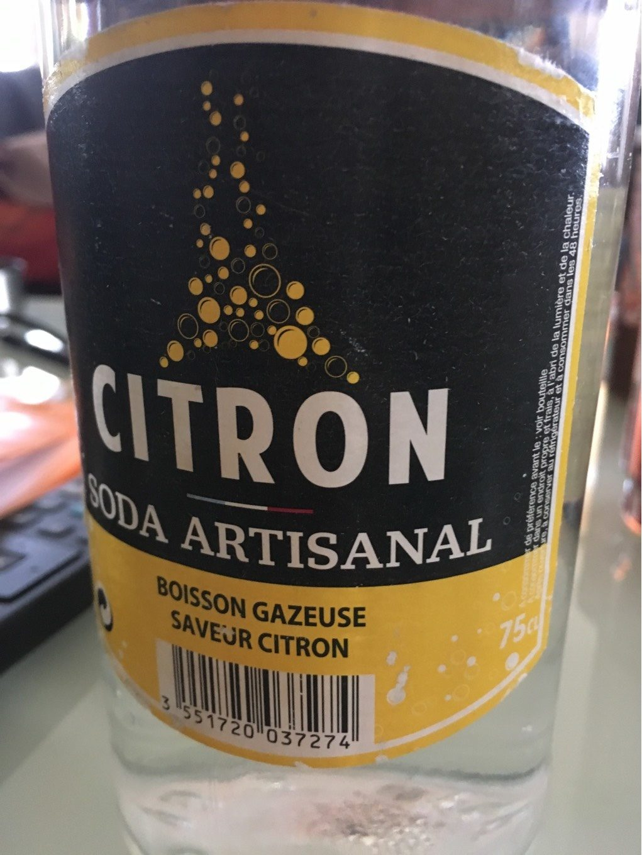 Soda artisanal citron - Produit