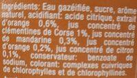 Agrume de Corse aromatisee - Ingrédients - fr
