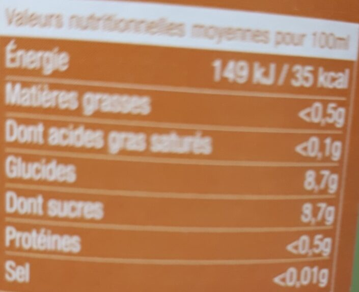 Agrume de Corse aromatisee - Informations nutritionnelles - fr