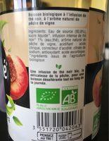 Purethé bio peche de vigne - Ingrédients - fr
