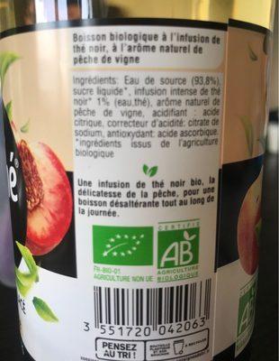 Purethé bio peche de vigne - Ingredients - fr