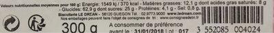 Cake aux fruits - Informations nutritionnelles - fr