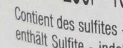 Merlot Pays d'Oc - Ingredients - fr