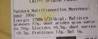 L'Encalat - Voedingswaarden - fr
