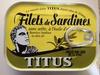 Filets de sardines, sans arête, à l'huile d'olive - Product