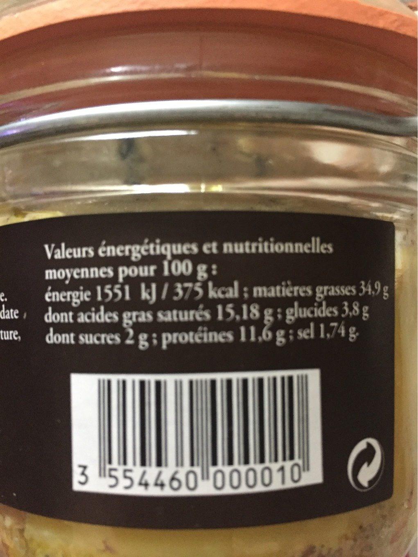 Foie gras de canard entier du Sud-Ouest - Voedingswaarden - fr
