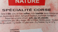 Canistrelli nature - Nutrition facts - fr