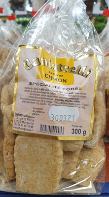 Canistrelli arôme citron - Product - fr