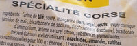 Canistrelli arôme citron - Ingredients - fr
