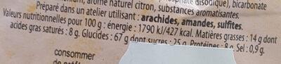 Canistrelli arôme citron - Nutrition facts - fr