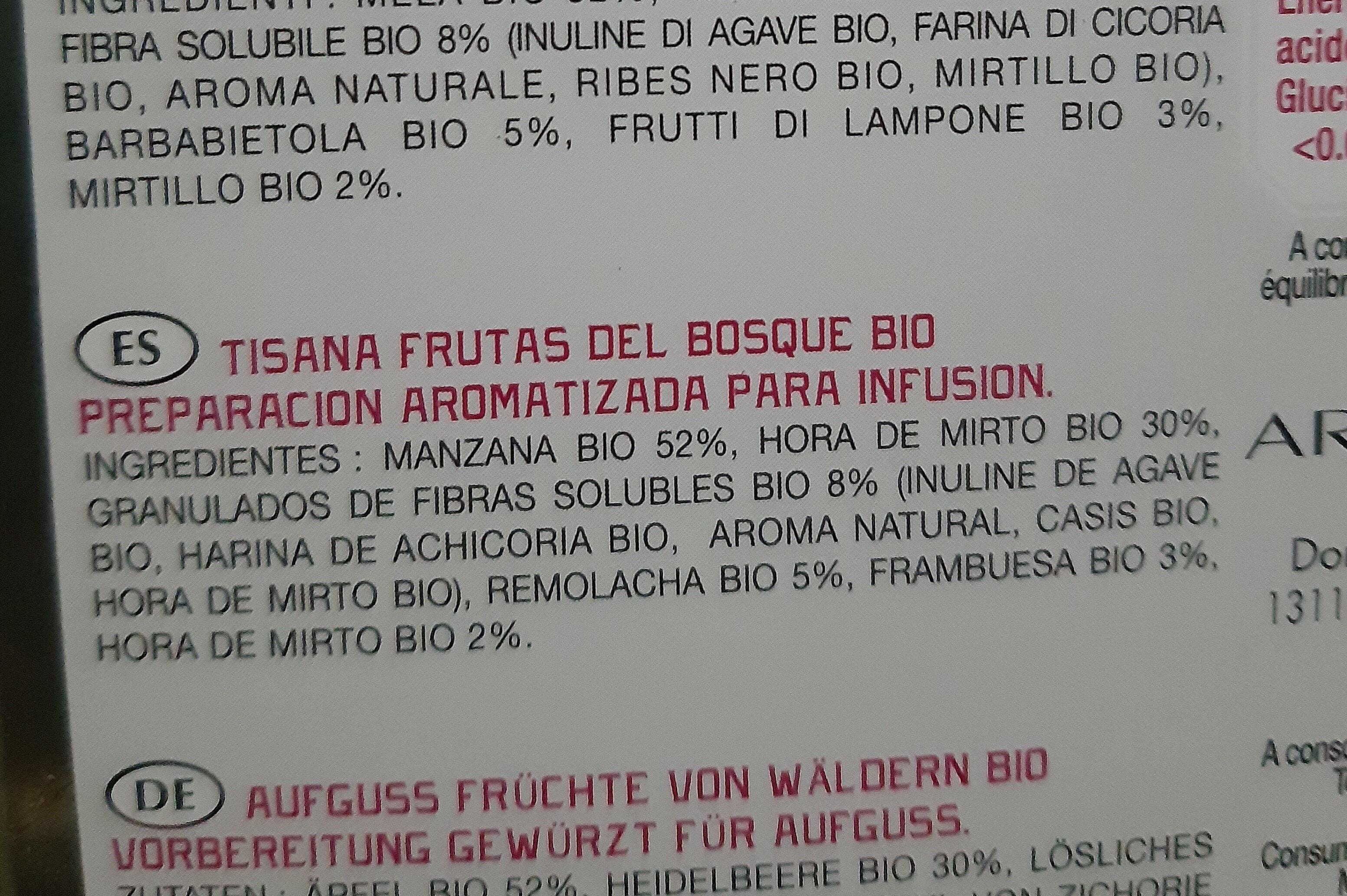 Tisana frutas del bosque Bio - Ingredients - en
