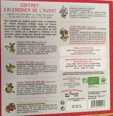 Advent calendar - Ingrédients