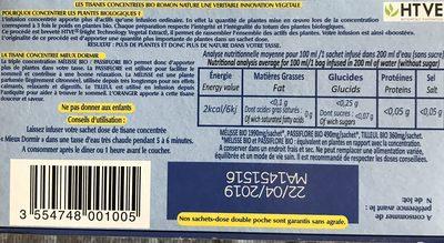 Tisane Mieux Dormir Bio - 20 Sachets - Romon Nature - Ingredients - fr
