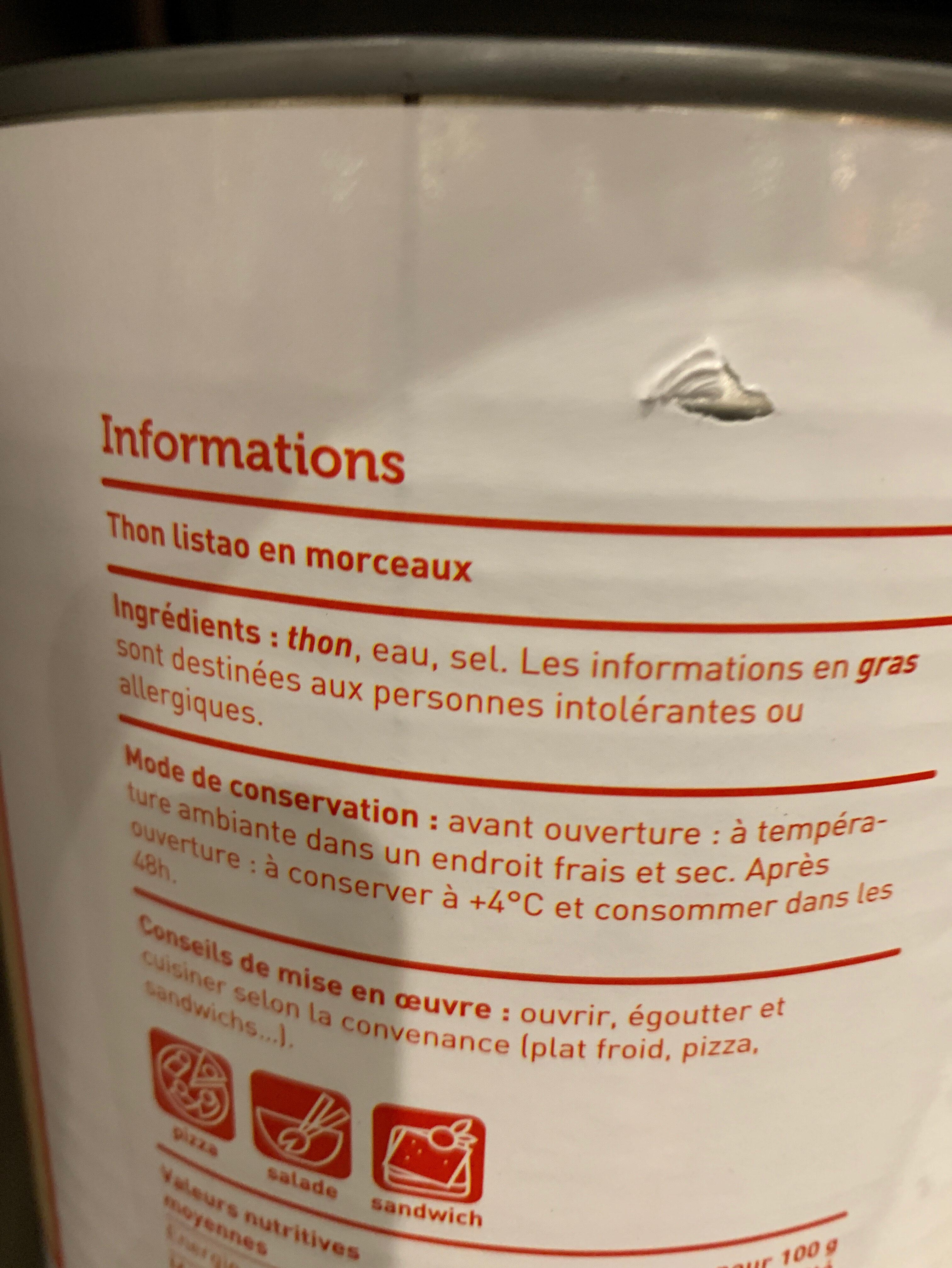 Thon listao - Ingrediënten