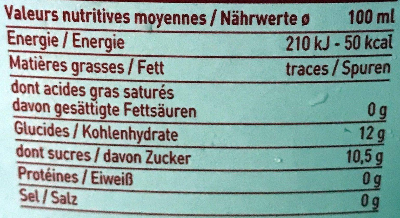 Jus de pomme à base de concentré - Nährwertangaben - fr