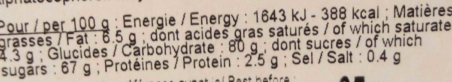 Caramel au Beurre des Alpes - Informations nutritionnelles