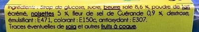 caramel au beurre salé et à la fleur de sel - Ingrediënten