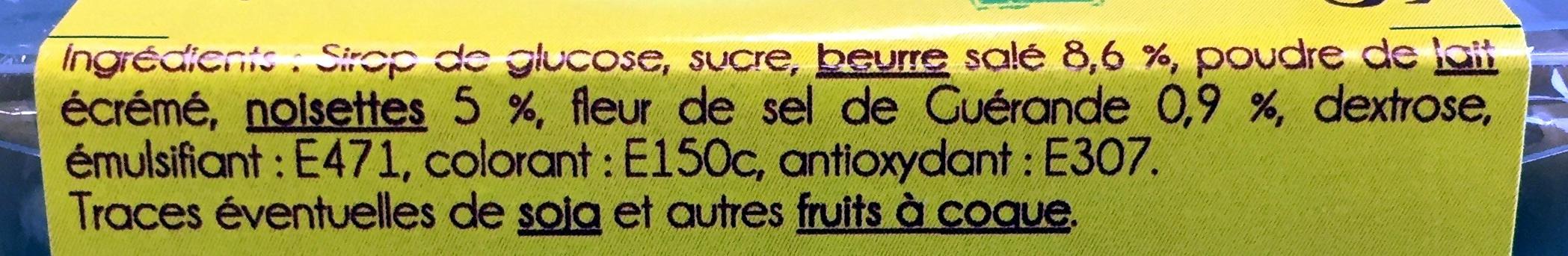 caramel au beurre salé et à la fleur de sel - Ingrediënten - fr