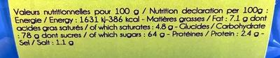 caramel au beurre salé et à la fleur de sel - Voedingswaarden