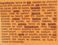 Cookies aux Pépites de Chocolat (Mous) - Ingrediënten - fr